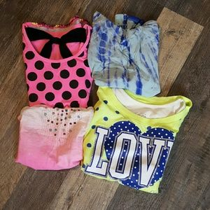 🔥Sale 🔥Bundle Lot 4 girl tops Justice size 14